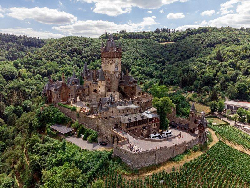cochem, castle, architecture